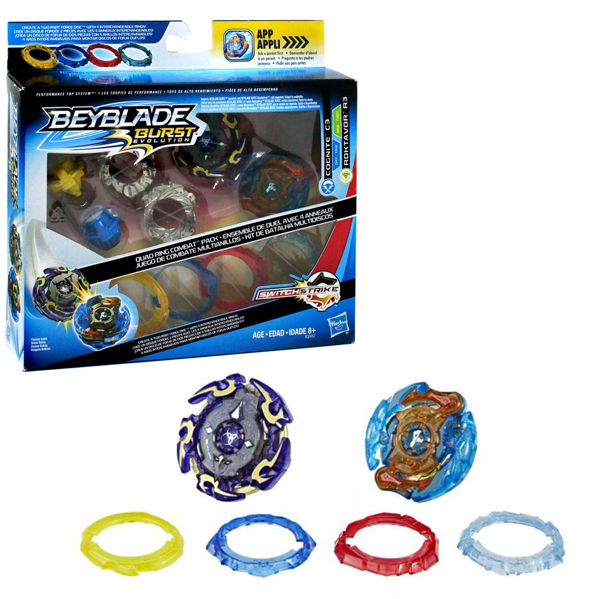 Beyblade Burst Evolution Quad Ring Combat Pack