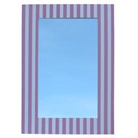 Wall Mirror Stripe Pink & White