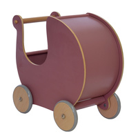 Wooden Dolls Pram Dusty Pink