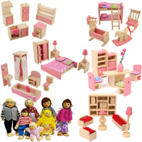 Doll Furniture 40 + pc & 6 Dolls