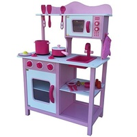 Breakfast Kitchen with Accessories Pink