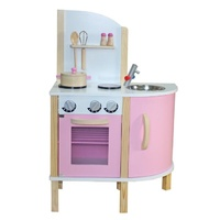 Retro Corner Kitchen Pink