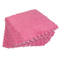 Fluffy Pink Interlocking Play Mat