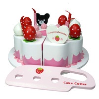 Wooden Cake Decoration Set