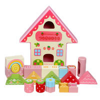 Strawberry Play House Building Blocks