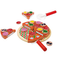 Wooden Pizza Play Food