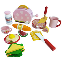 Wooden Breakfast Play Food