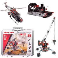 Meccano Super Construction Set in Case 25 Models