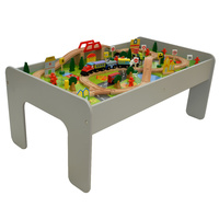 Classic Train Table 90 pcs Grey