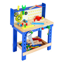 Wooden Work Bench Blue