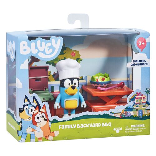 Bluey Family Backyard BBQ Playset with Bandit
