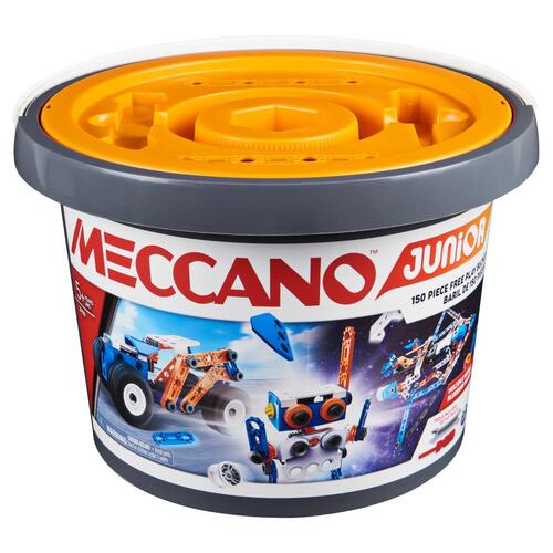 Meccano Junior 150 Piece Open Ended Bucket