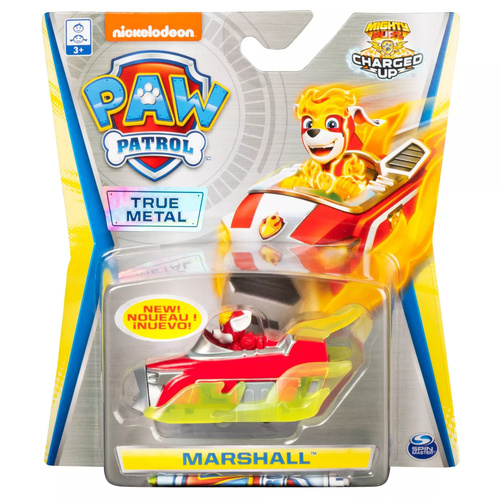 Paw Patrol True Metal Marshall Mighty Pups Charged Up