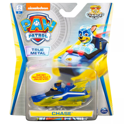 Paw Patrol True Metal Chase Mighty Pups Charged Up