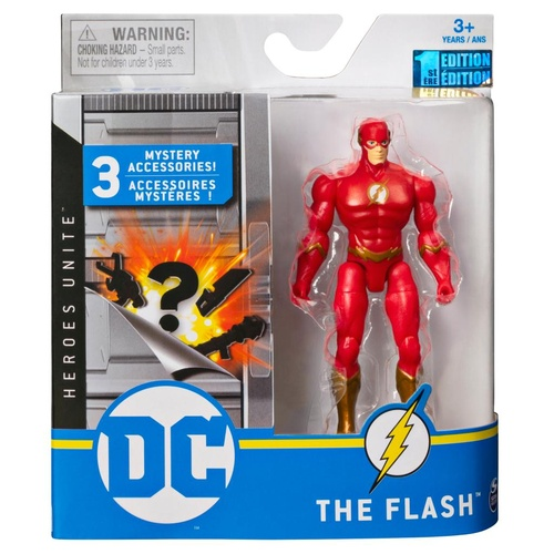 The Flash Metallic Suit Figure 10cm + Mystery Accessories