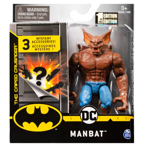 DC Comics Man Bat Figure 10cm Mystery Accessories