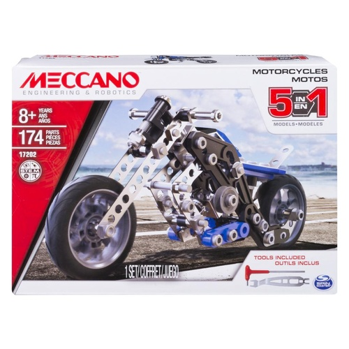 Meccano Motos Motorcycles 5 Models