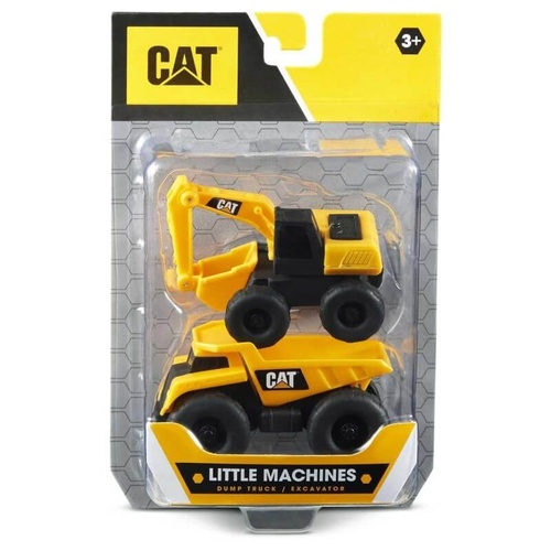CAT Little Machines Dump Truck + Excavator