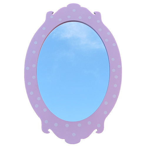 Wall Mirror Pink Oval