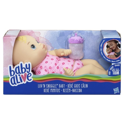 Baby Alive Luv n Snuggle Baby Blonde Hair