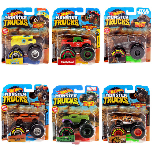 Hot Wheels Monster Trucks 1:64 Scale Randomly Selected