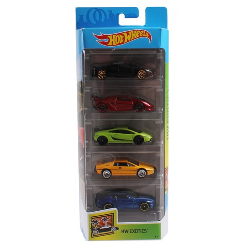 Hot Wheels Exotics 5 Pack