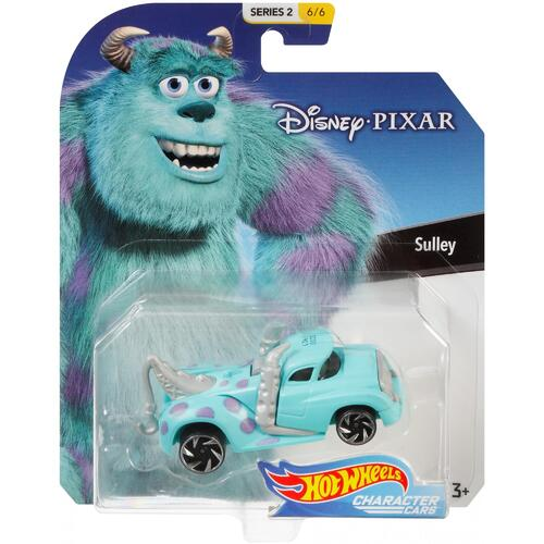 Hot Wheels Disney Pixar Sulley Character Cars