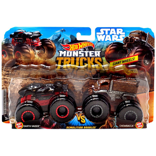 Hot Wheels Monster Trucks Darth Vader vs Chewbacca