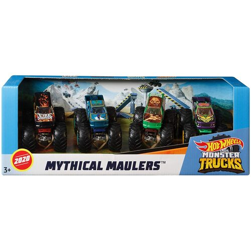 Hot Wheels Monster Trucks Mythical Maulers 4 Pack