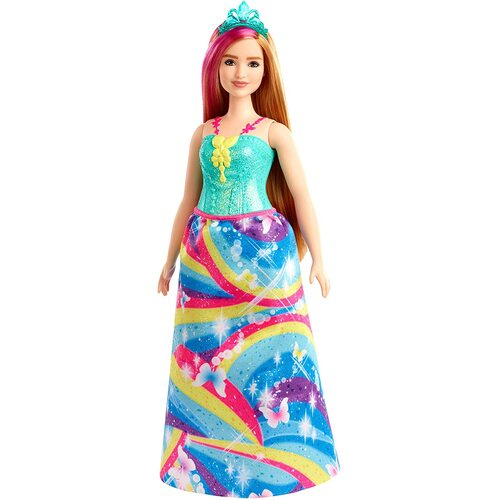 Barbie Dreamtopia Princess Doll Blonde with Pink Hairstreak Curvy