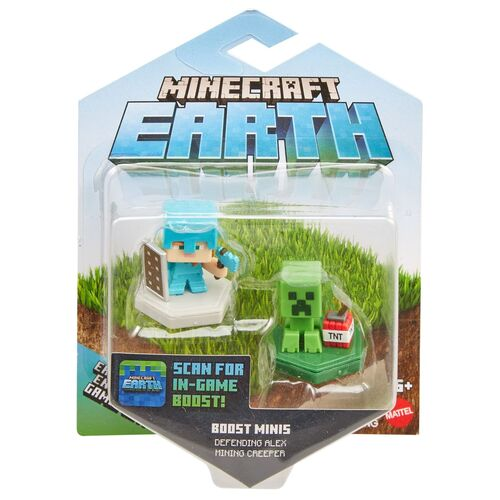 Minecraft Earth Boost Minis Defending Alex + Mining Creeper