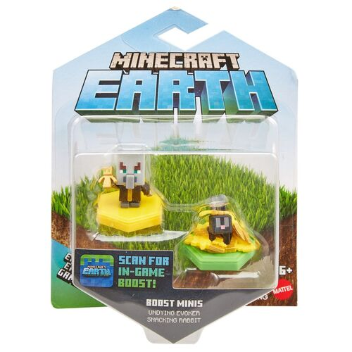 Minecraft Earth Boost Minis Undying Evoker + Snacking Rabbit