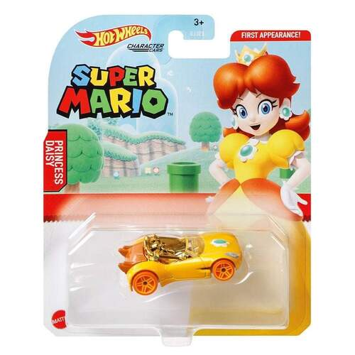 Hot Wheels Super Mario Princess Daisy Character Cars