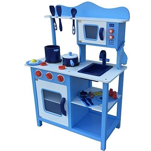Breakfast Kitchen with Accessories Blue