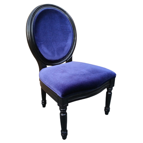 Louis Chair Blue Velvet