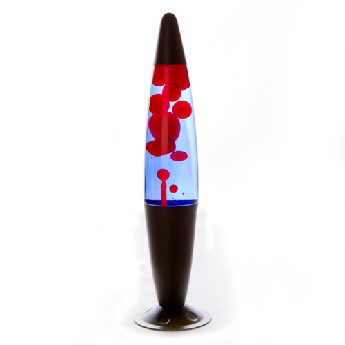 Peace Motion Lava Lamp Black Red Blue