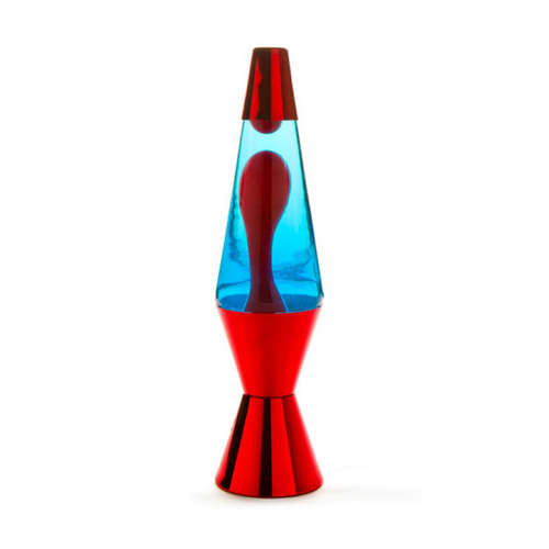 Metallic Lava Lamp Red Red Blue