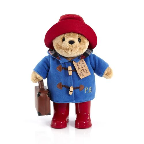 Paddington Bear Plush with Boots + Suitcase 36cm