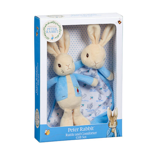 Peter Rabbit Rattle and Comforter Gift Set