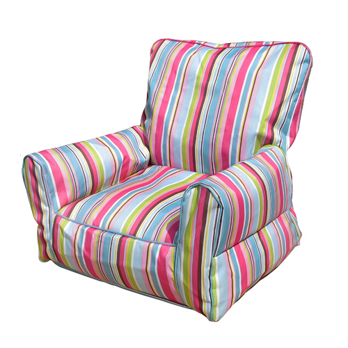 Bean Bag Sofa Stripe PInk Blue