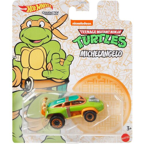 Hot Wheels Character Cars TMNT Michelangelo